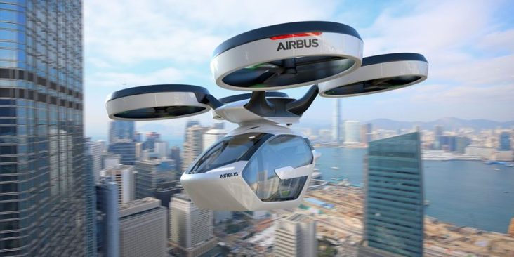 Das autonome Flugauto von Airbus kann auch mit dem Zug fahren