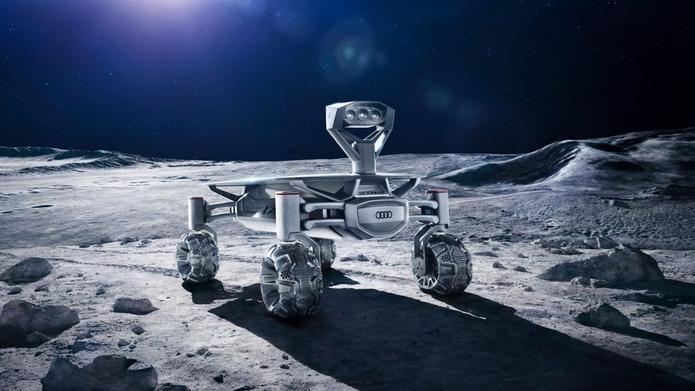 Dieser Mond-Roboter von Audi soll während der ersten privaten Mond-Mission auf den Erdtrabanten verfrachtet werden. (Foto: Part Time Scientists)