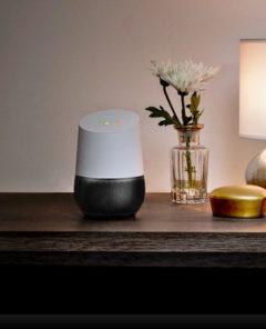 Der Sprachassistent von Google im Wohnzimmer