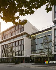 Die Geschäftsräume der Microsoft, Inc. in München, Schwabing