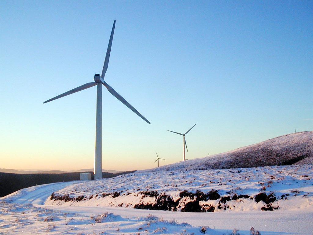 Windpark Bowbeat von E.ON in England