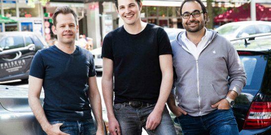 Das Auto1-Team: Chris Muhr, Christian Bertermann und Hakan Koç (von links)