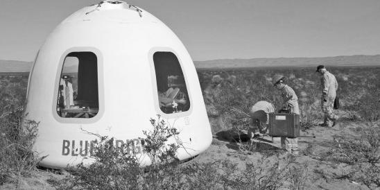 Zusammen mit Jeff Bezos und seiner Raketenfirma Blue Origin für 300.000 US-Dollar ins Weltall (Foto: Blue Origin)