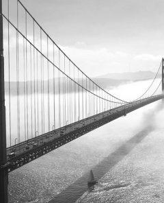 Küstennähe vergrabene Glasfaserkabel können durch eindringendes Wasser beschädigt werden (Foto: Golden Gate Bridge, Pixabay)