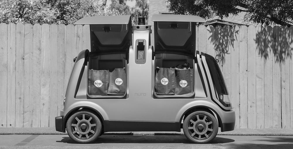 Das Elektroauto von Nuro transportiert ausschließlich Waren. (Foto: Nuro)