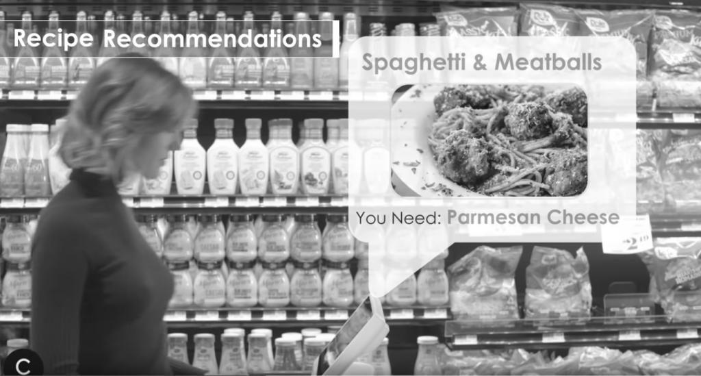 Der Einkaufswagen von Caper kann beim Erfassen von Waren Rezepte und weitere Produkte empfehlen.