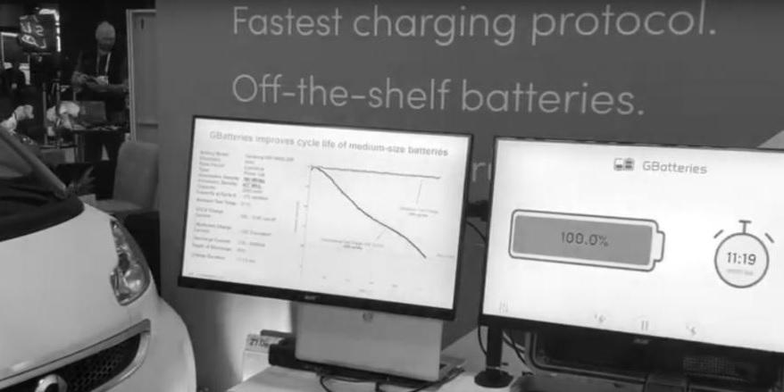 Gbatterie demonstrierte die schnelle Ladetechnik auf der CES 2019.