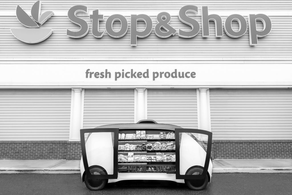 Die Lieferfahrzeuge von Stop & Shop werden per App herbeigerufen