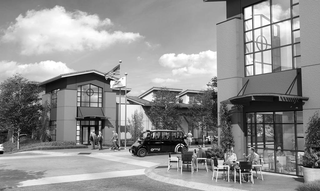 In der Gated Community Paradise Valley sollen die Autos von Optimus Ride bald auf Bestellung fahren.