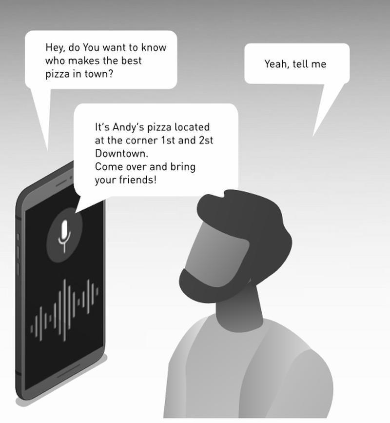 Zukünftig unterhalten sich die Werbespots mit Smartphonebenutzern.