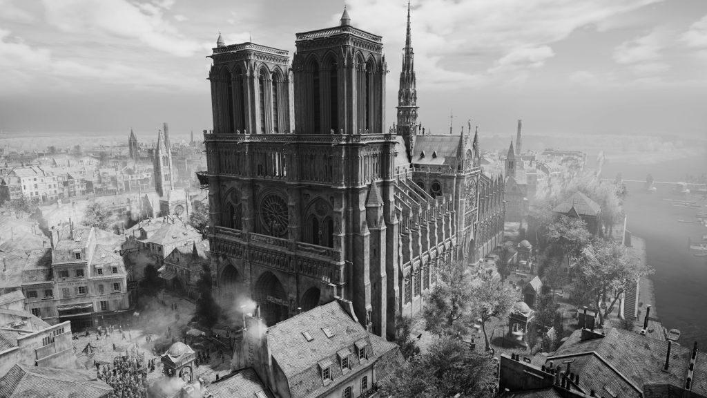 Das 3D-Modell von Notre-Dame in Assasin's Creed Unity zeigt viele Details der Kathedrale.