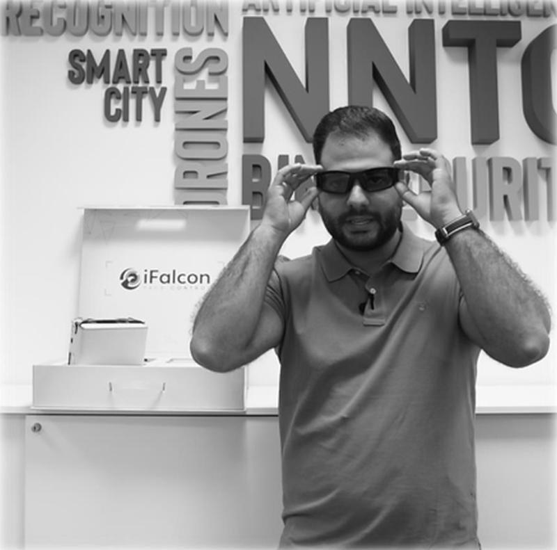 """Die """"iFalcon Face Control"""" gleicht äußerlich einer gewöhnlichen Sonnenbrille."""