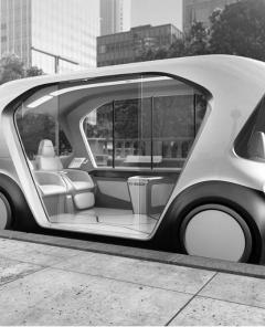 Künstliche Intelligenz im Auto: Anfang dieses Jahres präsentierte Bosch in Las Vegas ein Shuttle-Konzeptfahrzeug (Foto: Bosch)